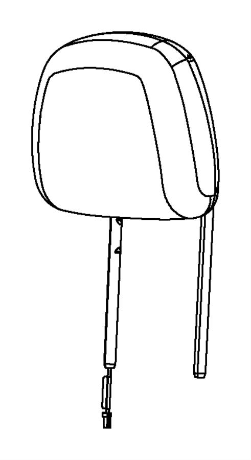 2013 Chrysler 200 Headrest. Front. Trim: [premium cloth