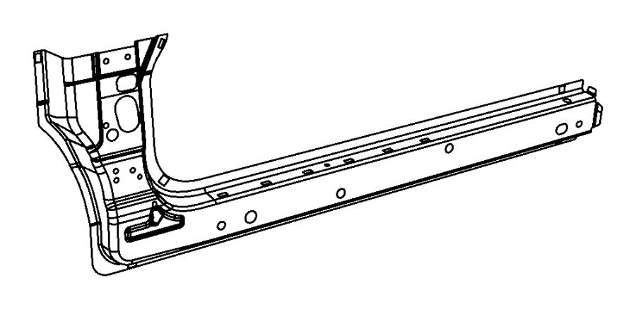 2013 Chrysler 200 Reinforcement. Sill. Left. Body, panel