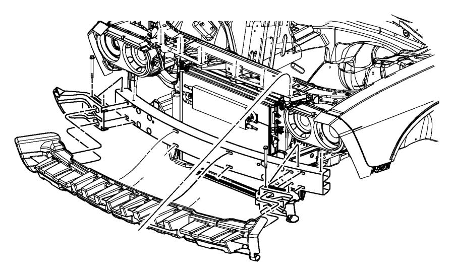 2009 Dodge Challenger Bracket. Fascia support. Left. Front