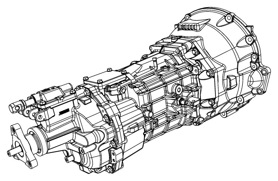 2012 Dodge Challenger Trans. Transmission, transaxle