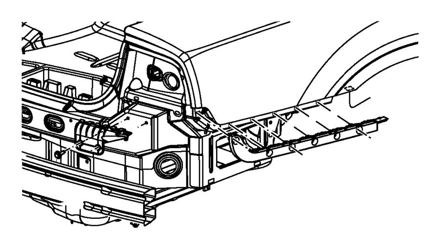 2011 Dodge Charger Bracket. Fascia support. Left
