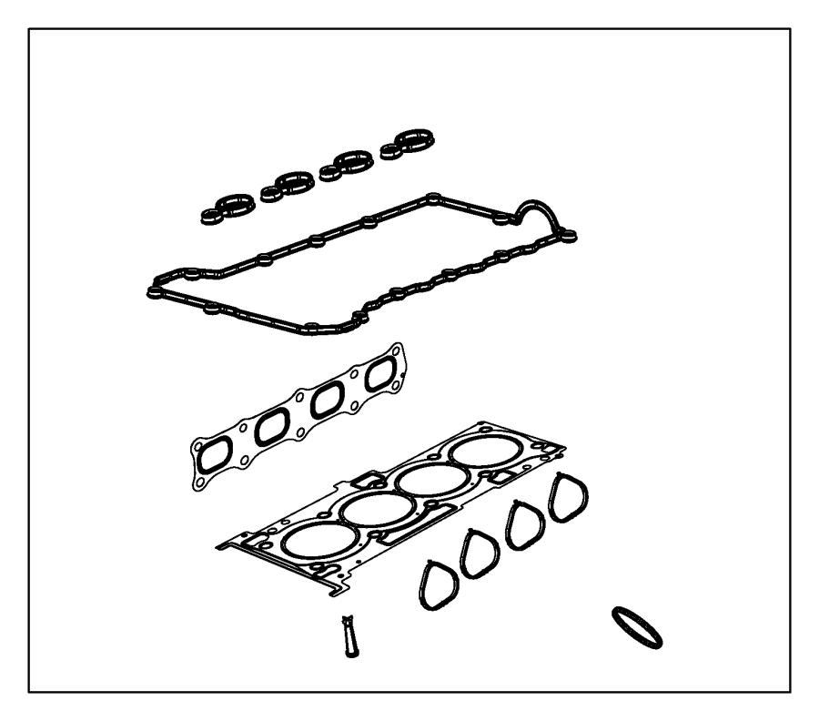 Dodge Dart Gasket kit. Engine. Upper. Transmission, air
