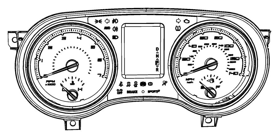 2013 Chrysler 300 Cluster. Instrument panel. [140 mph