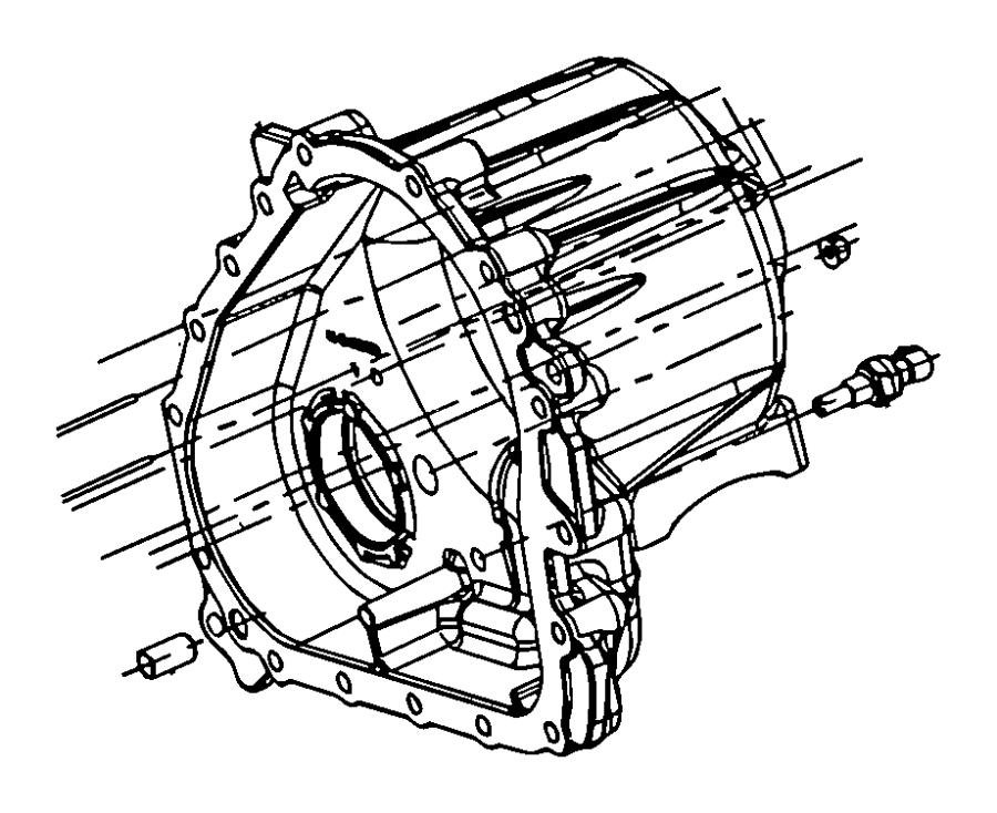 Chrysler 300 Sensor. Temperature. Transfer case. Frt