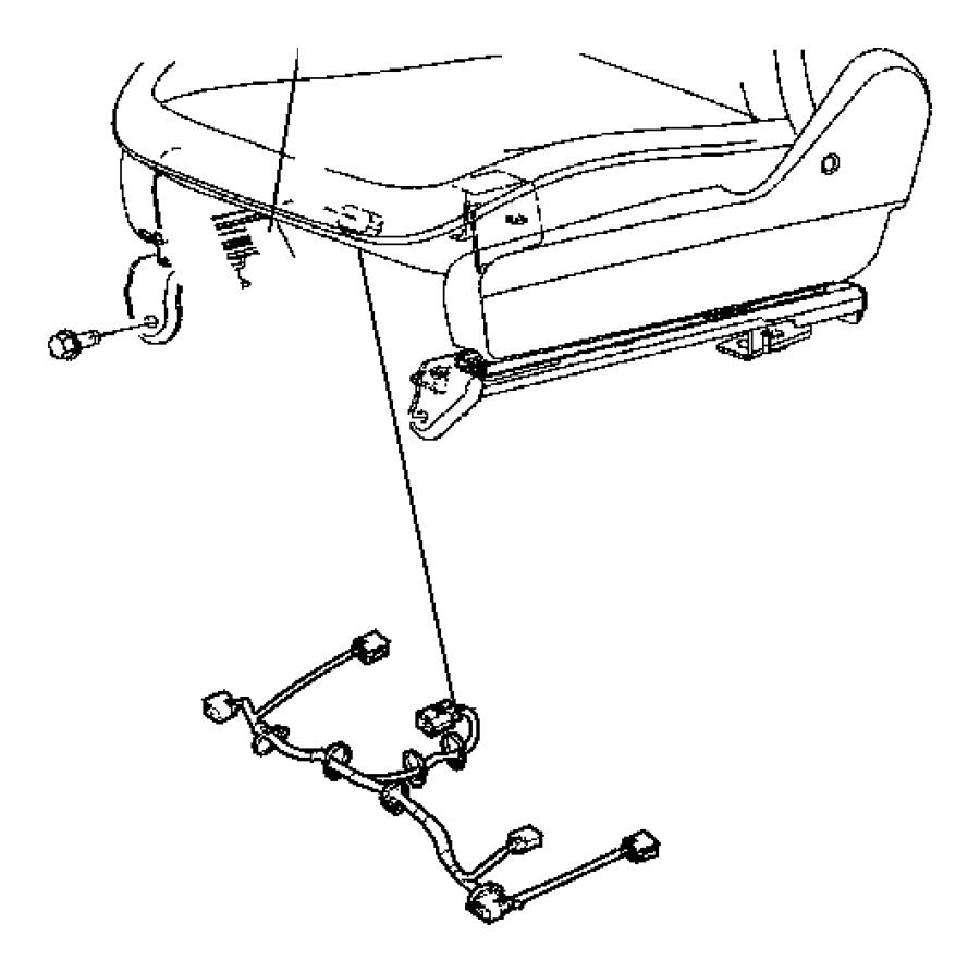Chrysler Town & Country Wiring. Power seat, seat. Trim