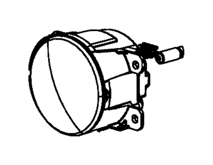 2017 Dodge Durango Bulb. Headlamp. Export, fog lamp, left