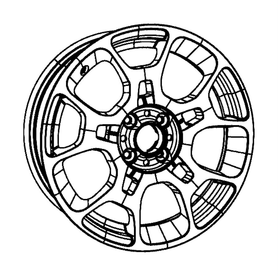 2013 Fiat 500 Wheel. Aluminum. Front or rear. Color: [no