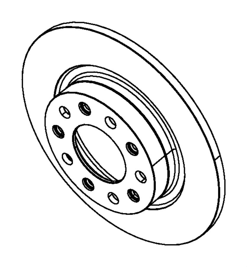 2015 Dodge Dart Rotor. Brake. Rear. Magneti marelli, value