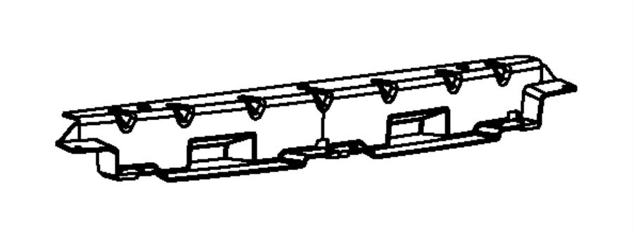 2014 Dodge Dart Bracket. Exhaust tip. Fascias, module