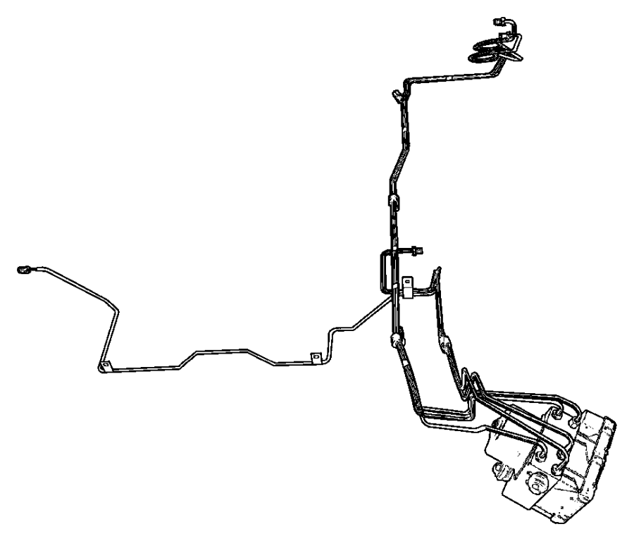 Dodge Viper Hydraulic control unit. Anti-lock brake system