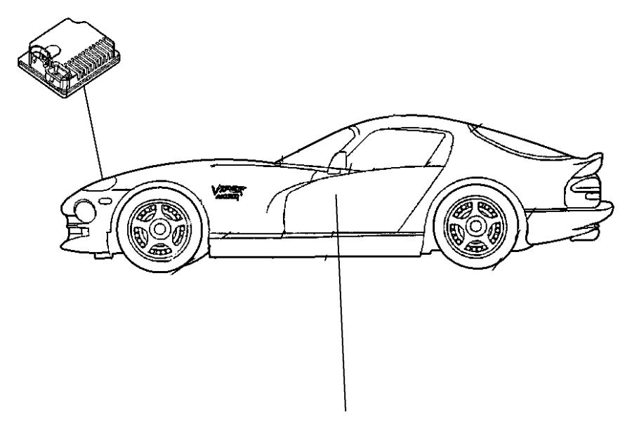 2017 Dodge Viper Module. Hid ballast. Export, left, right