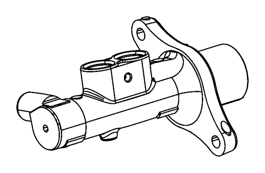 2014 Dodge Dart Master cylinder. Brake. [6-speed c635