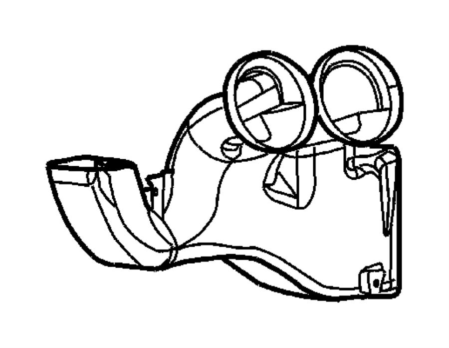 Dodge Viper Duct. Air distribution. Trim: [no description