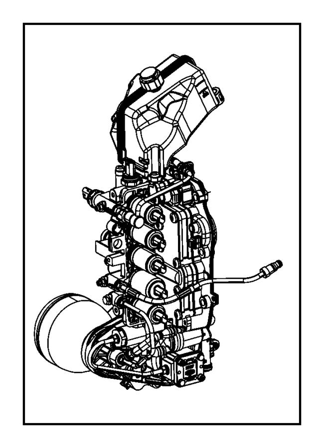 2012 Dodge Dart Actuator. Hydraulic shift. Module, train