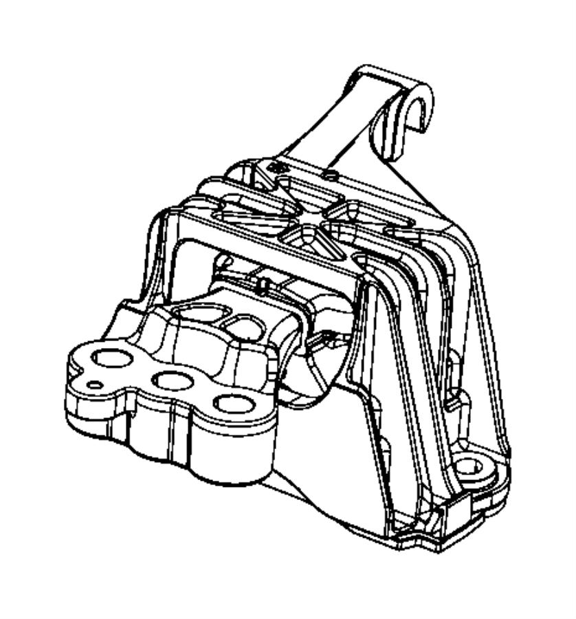 2013 Dodge Dart Isolator. Transmission mount. [6-speed