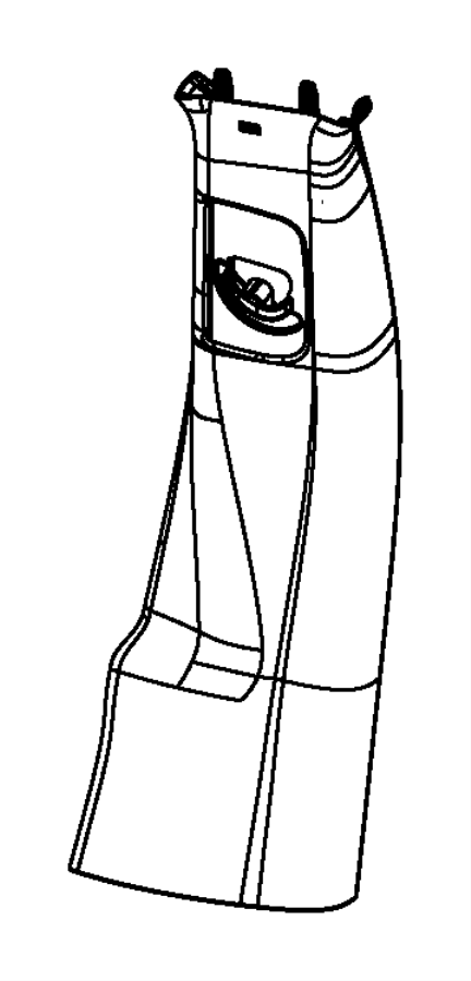 Dodge Dart Panel. B pillar upper trim. Left. [diesel gray