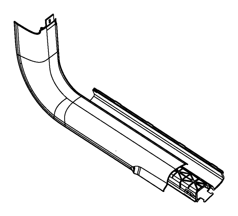 2014 Dodge Dart Panel. Cowl side trim. Right. Trim: [no