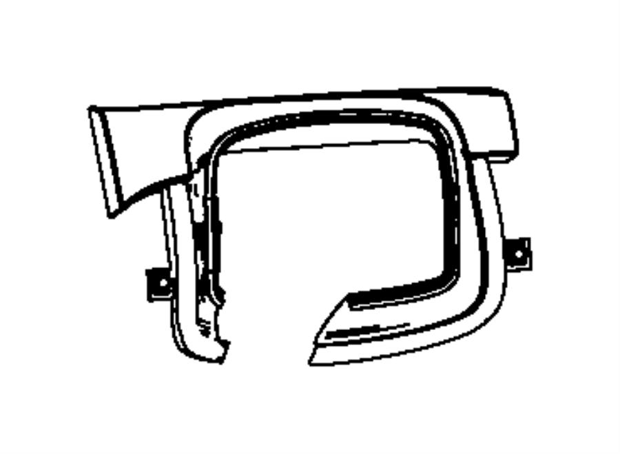 2015 Dodge Dart Gap hider. Steering column shroud. Trim