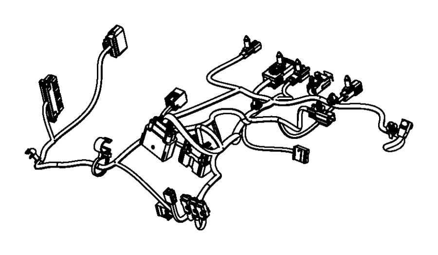 Chrysler 300 Wiring. Power seat, seat. Trim: [hd cloth