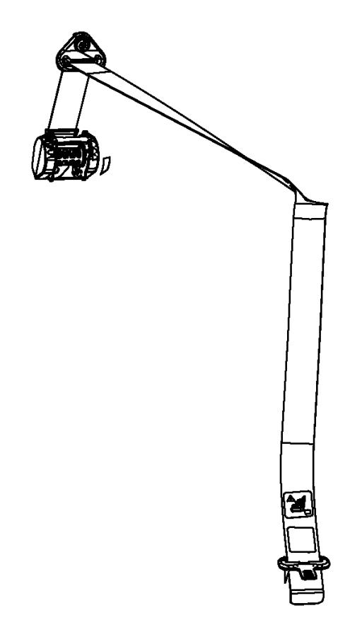 Jeep Compass Seat belt. Rear center shoulder. [dk], [dk