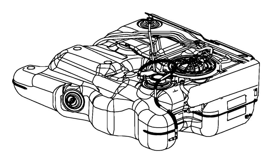 2016 Dodge Grand Caravan Tank. Fuel. [2.8l i4 turbo diesel