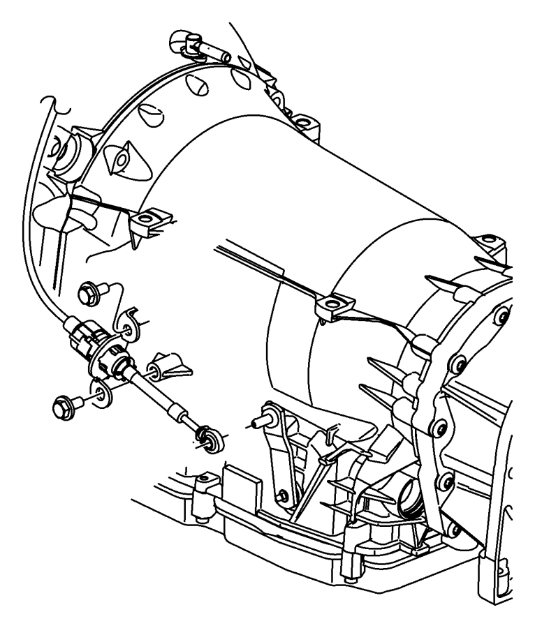 Dodge NITRO Bracket. Shift cable. Control, gear, gearshift