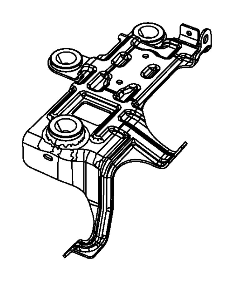 2008 Jeep Patriot Bracket. Air cleaner. Ecn, gas