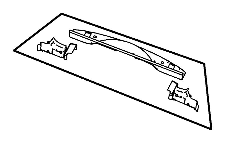 2008 Jeep Liberty Crossmember, panel. Floor pan, liftgate