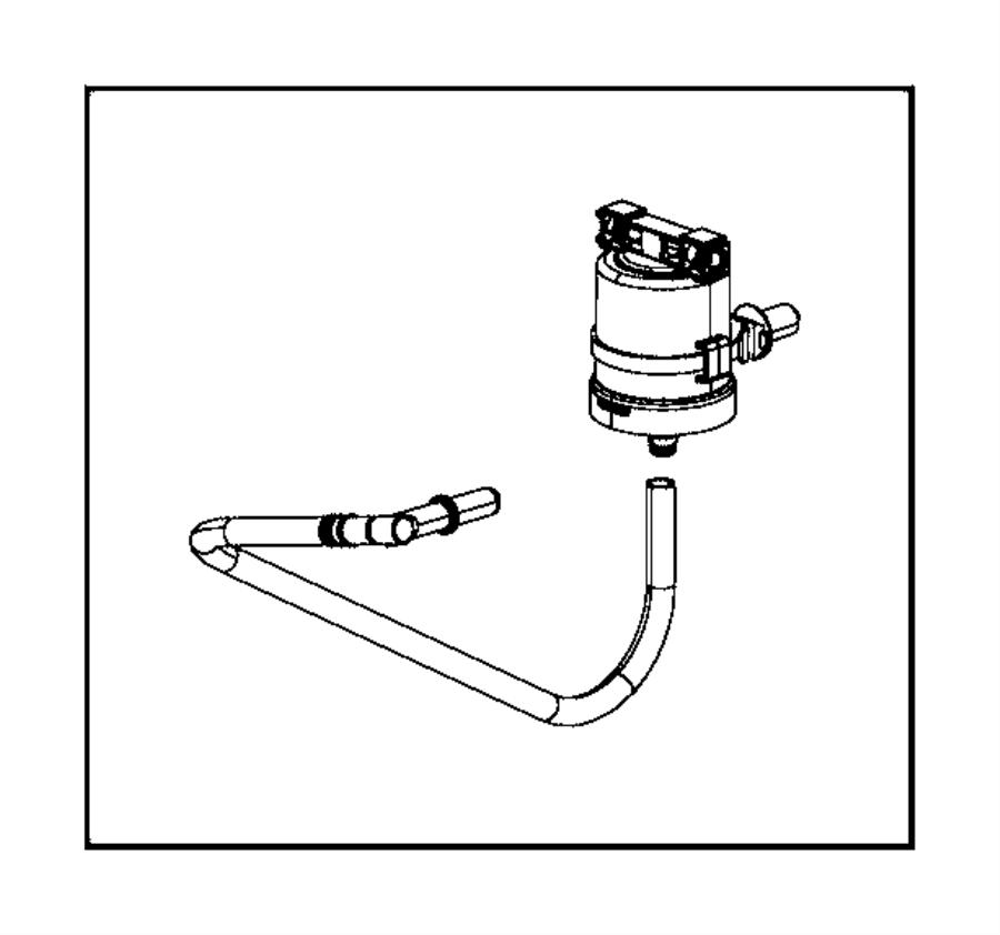 2014 Ram 1500 Filter. Fuel vapor canister, fuel vapor vent