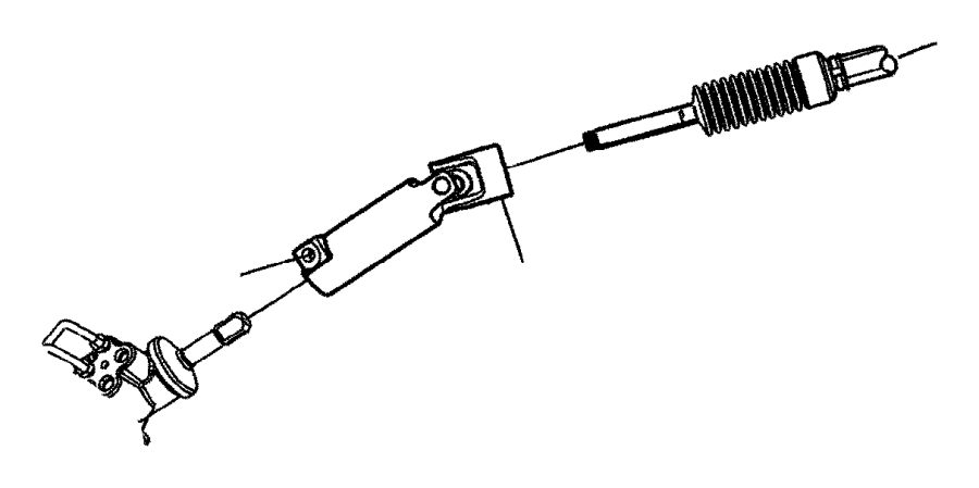 2016 Ram 2500 Shaft. Steering column intermediate. Lower