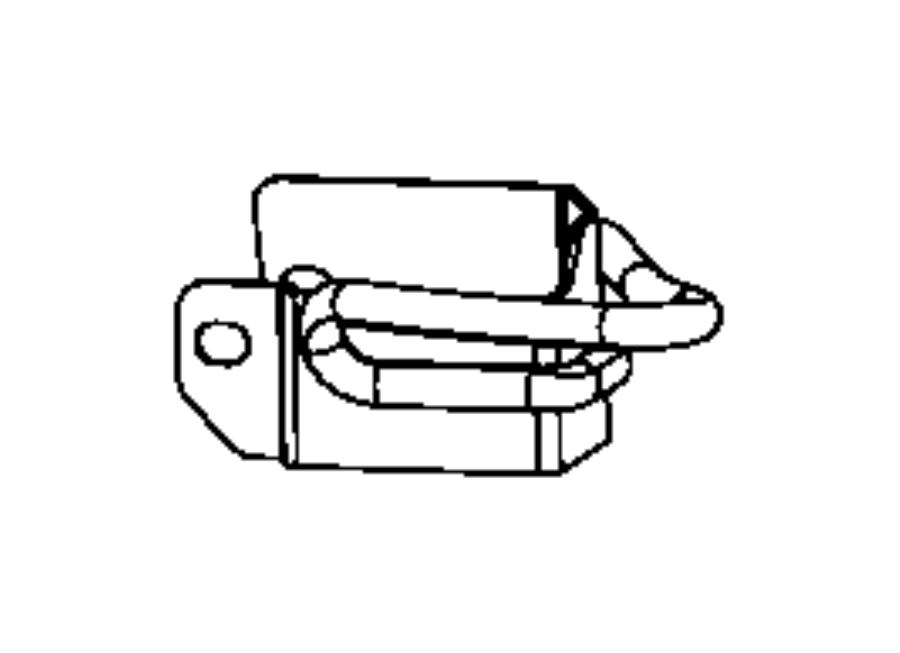 Dodge Viper Turning loop. Seat belt. Left. Belts, front