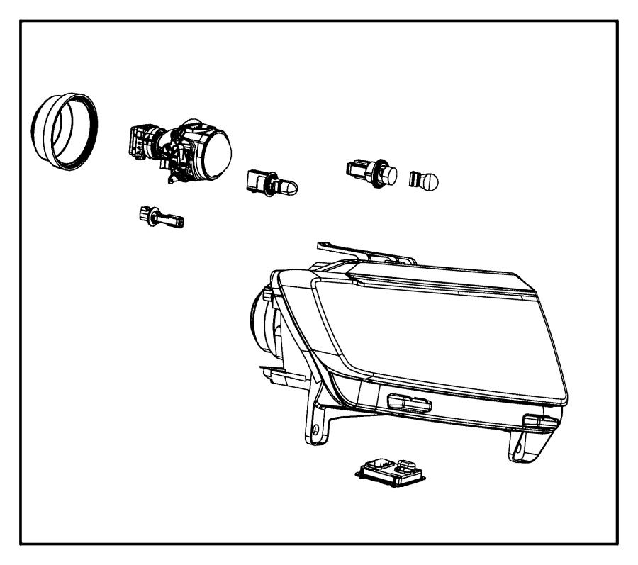2017 Chrysler 200 Bulb. Headlamp. Export, fog lamp, left