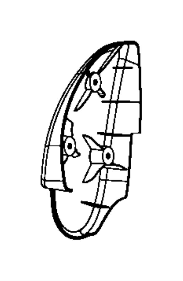 Dodge Viper Shield. Recliner. Left. Outboard. Trim