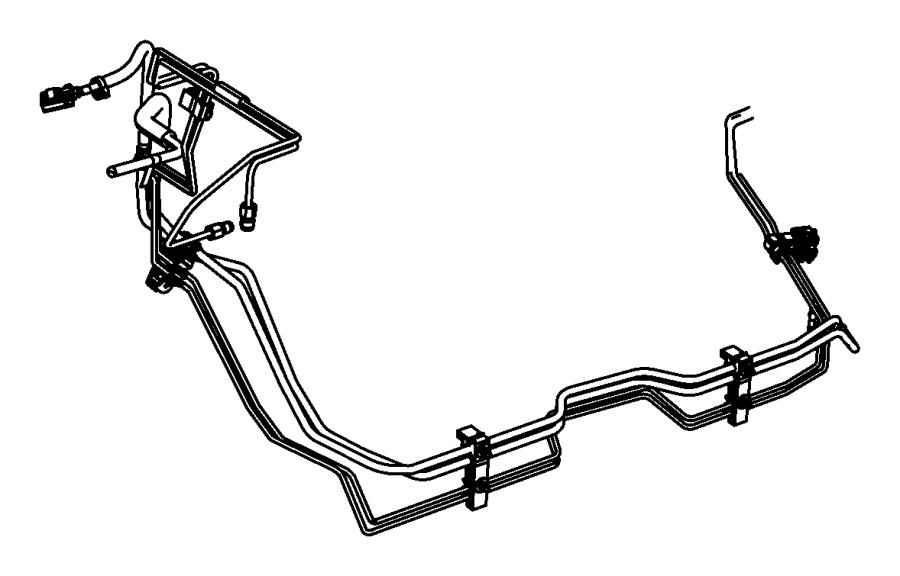 2011 Jeep Grand Cherokee Bundle. Fuel line. [3.0l v6 turbo