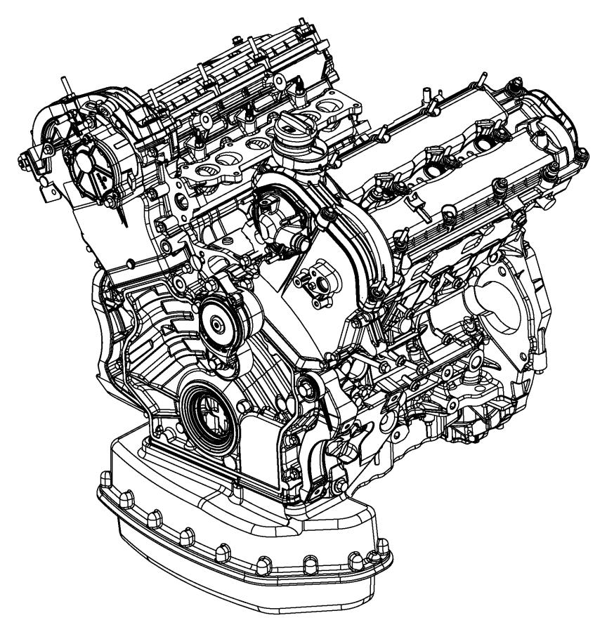 Jeep Grand Cherokee Engine. Long block. [50 state