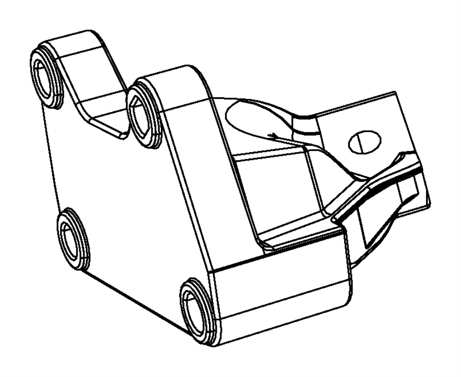 2016 Jeep Grand Cherokee Bracket. Engine mount. Right side