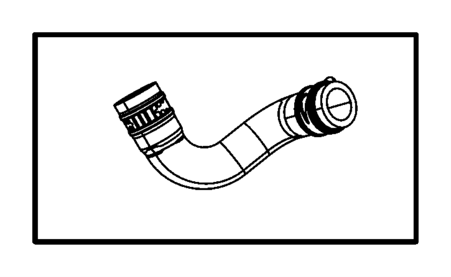 Jeep Grand Cherokee Hose. Coolant. Emissions, stage