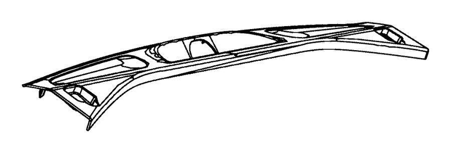 2014 Jeep Grand Cherokee Plate. Liftgate scuff. [black