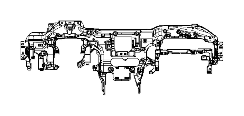 2014 Jeep Grand Cherokee Reinforcement. Instrument panel