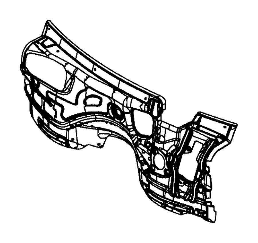 Jeep Grand Cherokee Silencer. Dash panel. Cowl, related