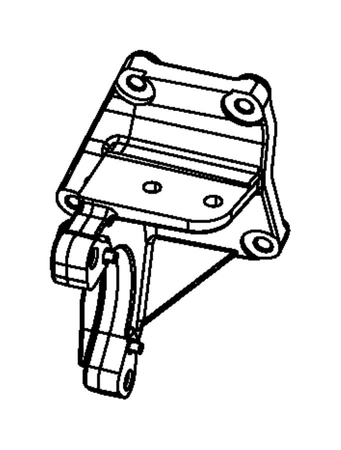Dodge Caliber Bracket. Drive shaft center bearing. [6
