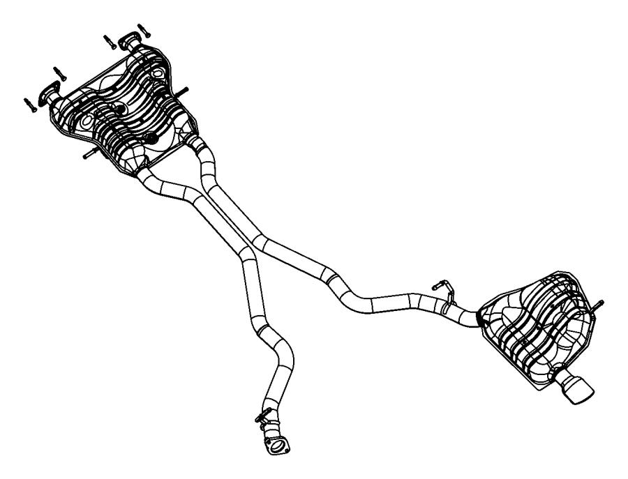 2014 Jeep Grand Cherokee Muffler. Exhaust. [st]. Vvt