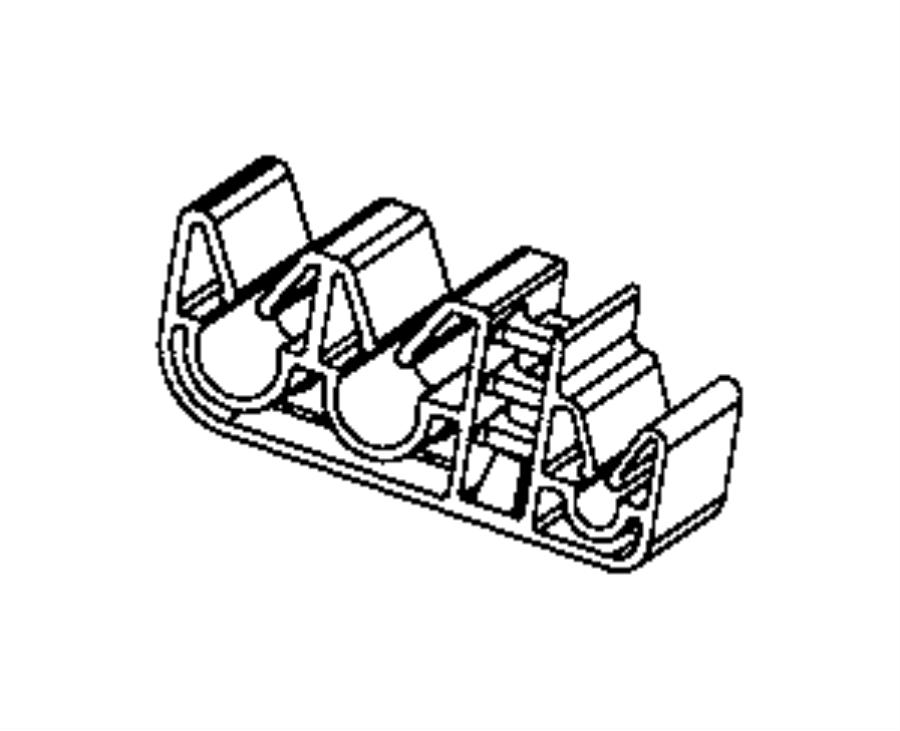2014 Jeep Cherokee Clip. Wiring. Rear wheel speed sensor