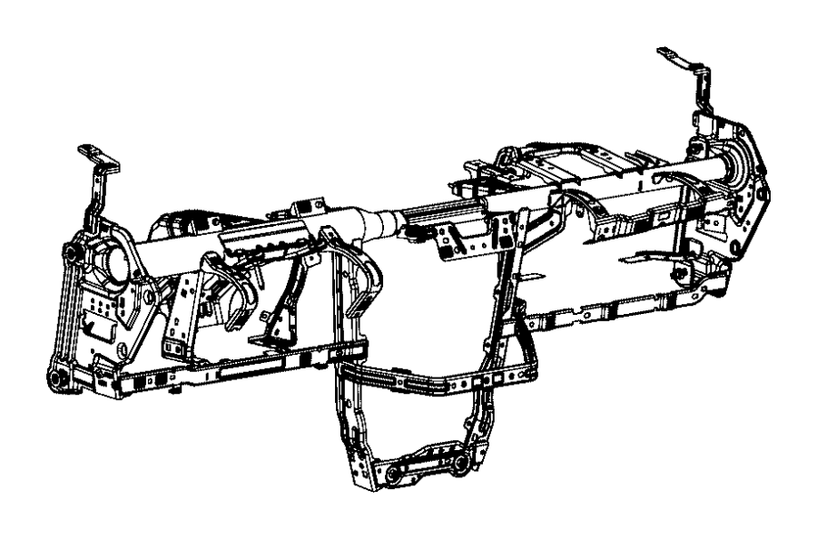 2017 Jeep Cherokee Reinforcement. Instrument panel. Export