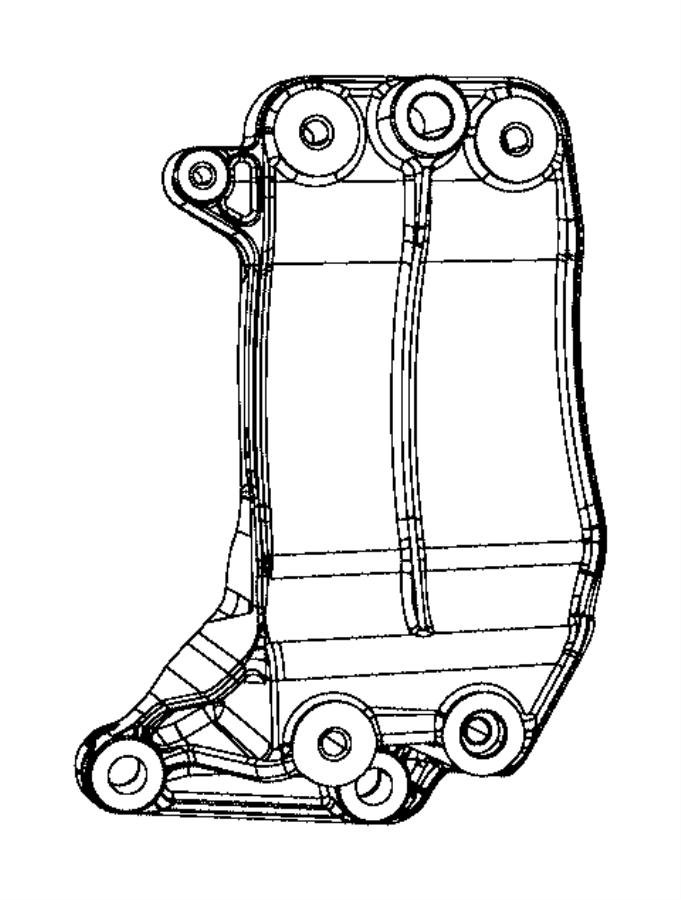 2015 Jeep Grand Cherokee Bracket. Alternator mounting