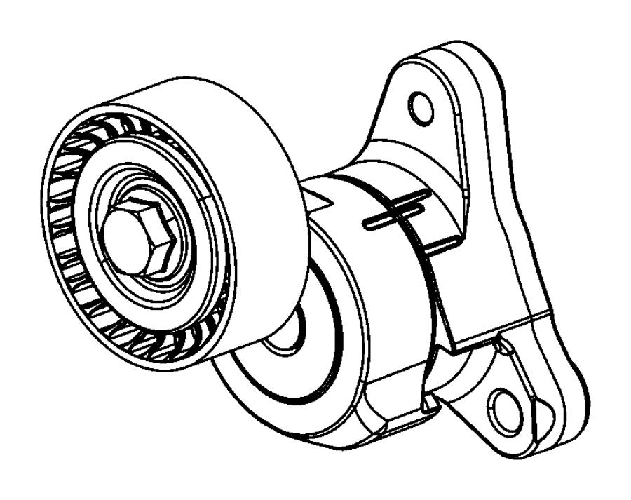 Jeep Cherokee Tensioner. Belt. Export. Maintenance