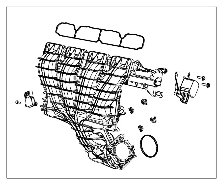 2010 Dodge Caliber Gasket. Intake manifold. Mounting