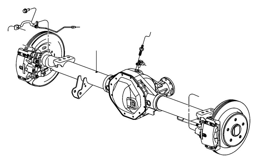 Ram 2500 Sensor. Wheel speed. Left, left rear. [electronic