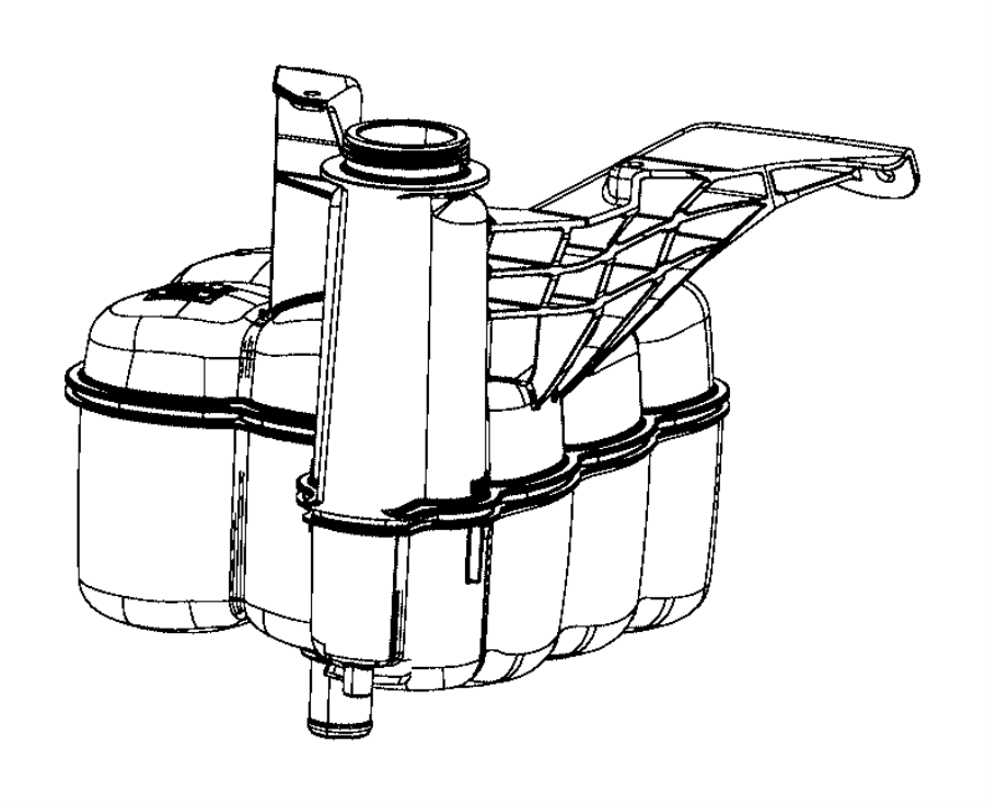 2016 Ram 2500 Bottle. Coolant recovery. Reservoir, mopar