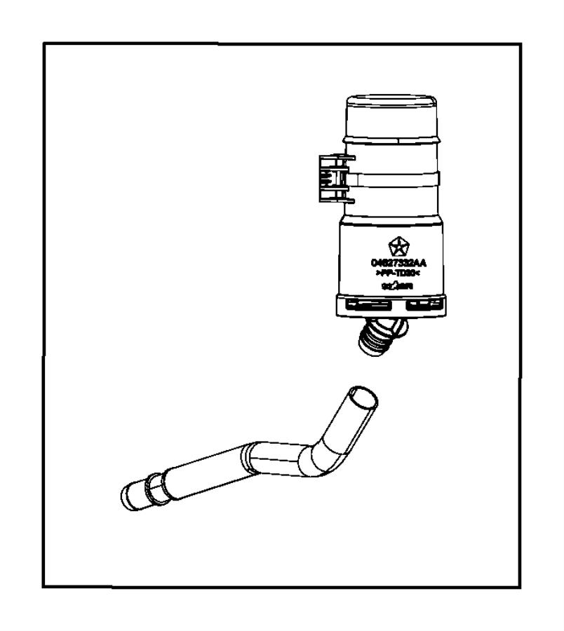 2016 Jeep Wrangler Filter. Fuel vapor canister. Export